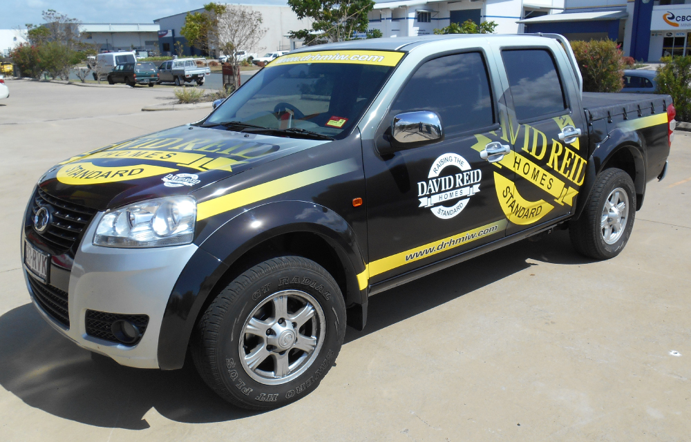 David Reid Homes Vehicle Wrap