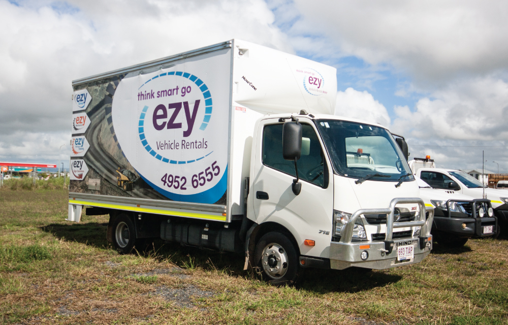 Truck Signage - Ezy Vehicle Rentals