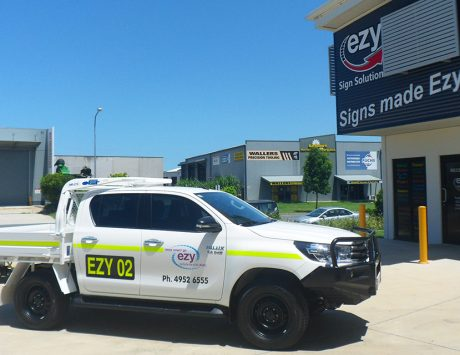 Ezy Vehicle Rentals Mining ID Signage