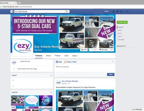 Facebook Graphic Design for Ezy Vehicle Rentals