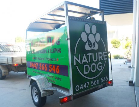Nature Dog Trailer Sign