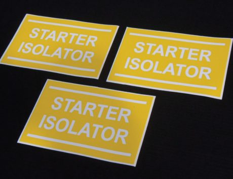 Starter Isolator Sticker