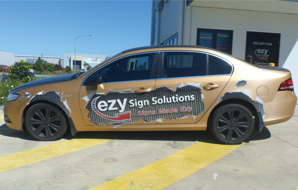 Vehicle signage Mackay - Partial Car Wrap